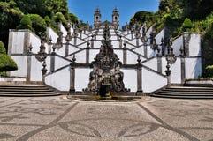 La escalera de Bom Jesús hace Monte, Braga, Portugal Imagenes de archivo