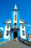 La escalera de los churchazules imagen de archivo