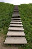 La escalera de madera Fotografía de archivo