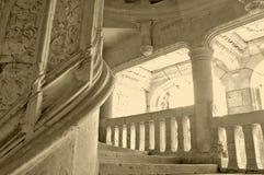 La escalera de piedra circular imágenes de archivo libres de regalías