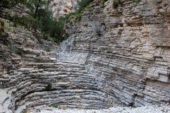 La escalera del diablo en Guadalupe Mountains National Park imagen de archivo