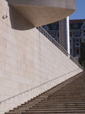 La escalera del museo de Guggenheim imagen de archivo libre de regalías