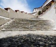 La escalera del palacio Potala Imagen de archivo