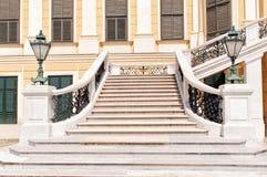 La escalera delantera del palacio de Schonbrunn en Viena fotografía de archivo