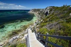 La escalera en la bahía de la masopa Isla de Rottnest Australia occidental australia imagen de archivo