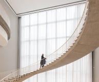 La escalera en el museo de Chicago fotografía de archivo