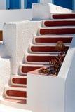 La escalera en Santorini foto de archivo libre de regalías