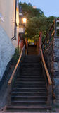 La escalera en una de las cortes en Estocolmo suecia 31 07 2016 Imagenes de archivo