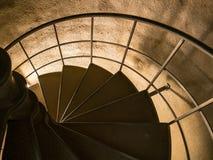 La escalera espiral de la columna de Astoria Fotografía de archivo libre de regalías