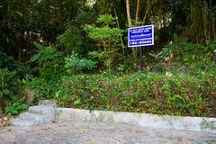 La escalera lleva a la selva tailandesa Foto de archivo