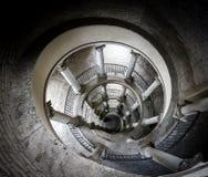 La escalera original de Bramante desde arriba Fotografía de archivo