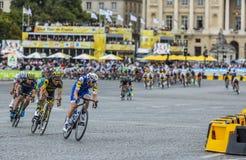 La escapada en París - Tour de France 2017 Imagenes de archivo