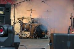 La escena antes del concierto Imagen de archivo libre de regalías