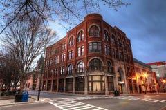 La escena Asheville NC de la calle del edificio de Drhumor fotos de archivo libres de regalías