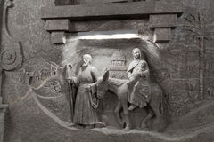 La escena de la biblia que se corta de la sal Fotografía de archivo