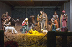 La escena de la natividad. Fotos de archivo