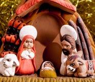 La escena de la natividad Imagen de archivo libre de regalías