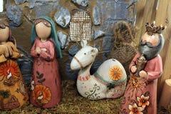 La escena de la natividad de la Navidad Imagen de archivo