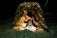 La escena de la Navidad Fotos de archivo