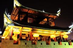 La escena de la noche de la ciudad antigua de Qianzhou Fotos de archivo