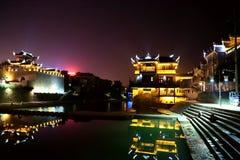 La escena de la noche de la ciudad antigua de Qianzhou Foto de archivo