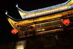 La escena de la noche de la ciudad antigua de Qianzhou Fotografía de archivo