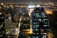 La escena de la noche en Bangkok Fotos de archivo