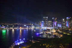La escena de la noche en Sydney viva imagenes de archivo