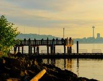 La escena de la pesca de Seattle fotos de archivo libres de regalías