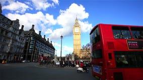 La escena de Londres Westminster incluye Big Ben almacen de video