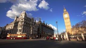 La escena de Londres Westminster incluye Big Ben metrajes