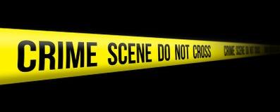 La escena del crimen no cruza Fotografía de archivo libre de regalías
