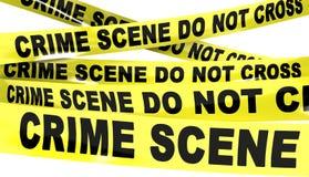La escena del crimen no cruza la cinta Foto de archivo libre de regalías
