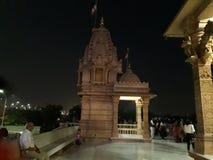 La escena del templo es a la hora de la tarde fotografía de archivo