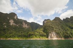 La escena hermosa del mar en Tailandia foto de archivo