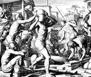 La esclavitud de las israelitas en Egipto Imagenes de archivo