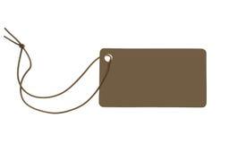 La escritura de la etiqueta de papel Fotografía de archivo libre de regalías