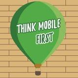 La escritura del texto de la escritura piensa el primer concepto del móvil que significa el contenido accesible 24 o 7 del dispos ilustración del vector