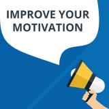 la escritura del texto mejora su motivación stock de ilustración