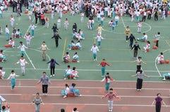 La escuela atlética se encuentra Imagen de archivo