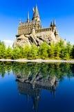 La escuela de Hogwarts de Harry Potter Imagenes de archivo
