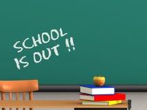 La escuela está hacia fuera Foto de archivo