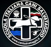 La escuela italiana de los perros del rescate - insignia Foto de archivo libre de regalías
