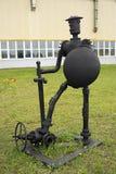 La escultura de los artículos del equipo del campo petrolífero Imagen de archivo
