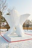 La escultura de nieve - fantasía Imágenes de archivo libres de regalías