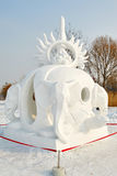 La escultura de nieve - universo Imagen de archivo libre de regalías