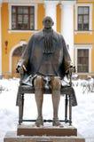 La escultura de Peter el grande del escultor Mikhail Shemyakin imagen de archivo