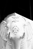 La escultura del elefante blanco Foto de archivo