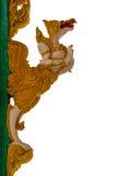 La escultura del estuco de dioses o de los ángeles adorna el frente de la iglesia Wh Imagen de archivo