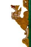 La escultura del estuco de dioses o de los ángeles adorna el frente de la iglesia Wh Fotos de archivo libres de regalías